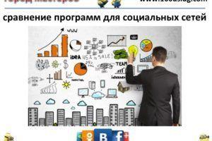 сравнение программ для социальных сетей