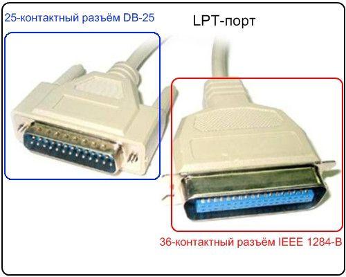 кабель для подключения принтера через lpt