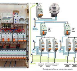 электрощиток схема и фото