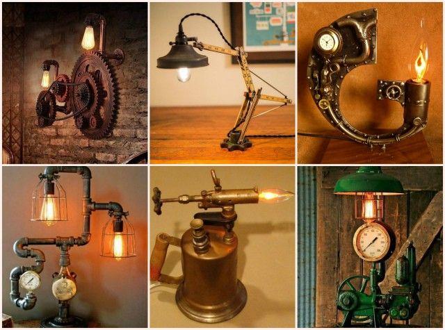 Светильник в стиле стимпанк🔴 Светильник в стиле стимпанк
