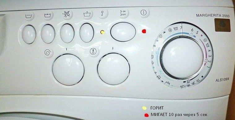 Индикация кодов ошибок стиральных машин АРИСТОН — Город мастеров