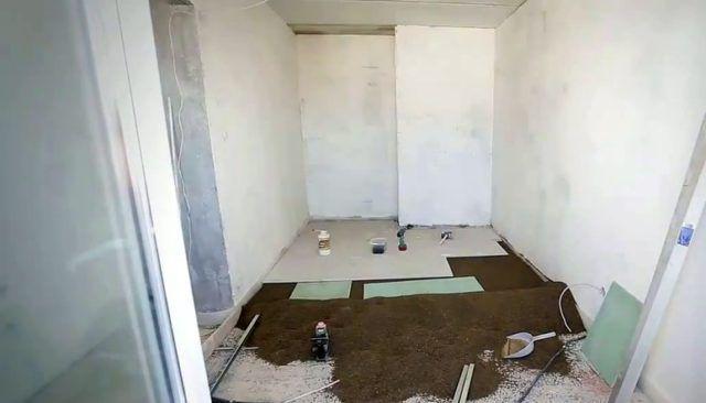 выравнивание пола под ламинат 🔴 Ремонт 2х комнатной квартиры под ключ