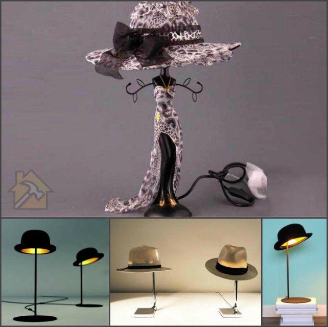 как сделать настольный светильник своими руками из шляпы
