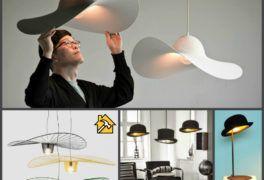 Как сделать стильный светильник из шляпы