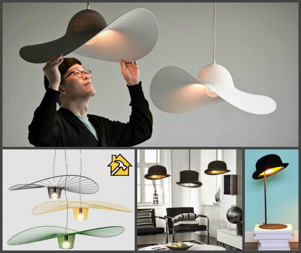 Как сделать стильный светильник из шляпы🔴 Как сделать стильный светильник из шляпы
