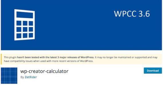 wp creator calculator - ошибки калькулятора для wordpress - Компьютер и интернет на Город мастеров 3