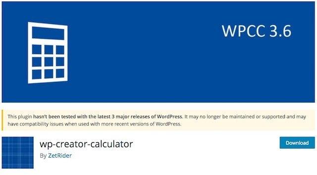 ошибки wp-creator-calculator 3.6.5 плагин калькулятора для вордпресса