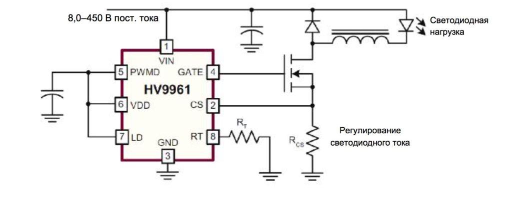 драйвер светодиодов с режимом регулирования по среднему току HV9961 🔴 Ремонт светодиодного светильника армстронг