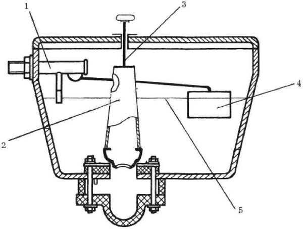 Конструкция сливного клапана