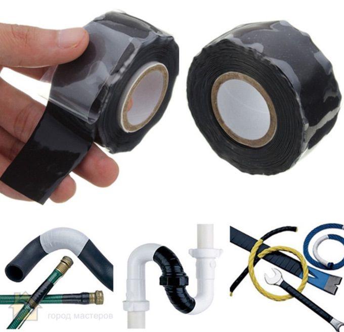Ремонтная лента из резины и силикона 🔴 5 способов ремонта труб из ПВХ
