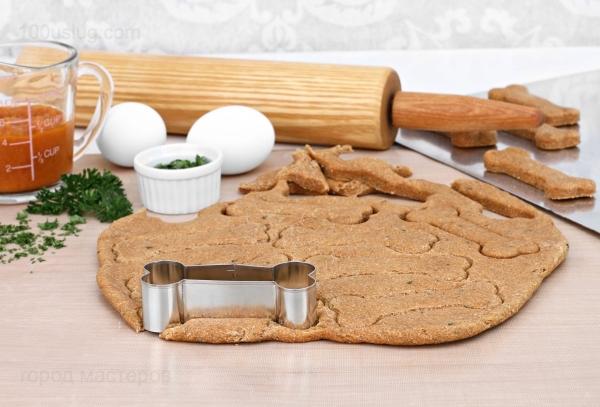 печенье для собак в виде косточки