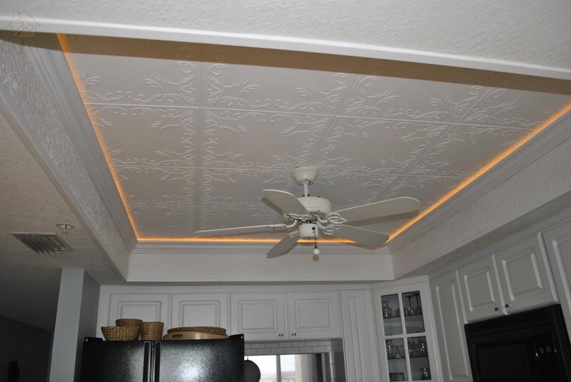 Потолочная плитка из пенополистирола 🔴 Какой потолок лучше сделать на кухне