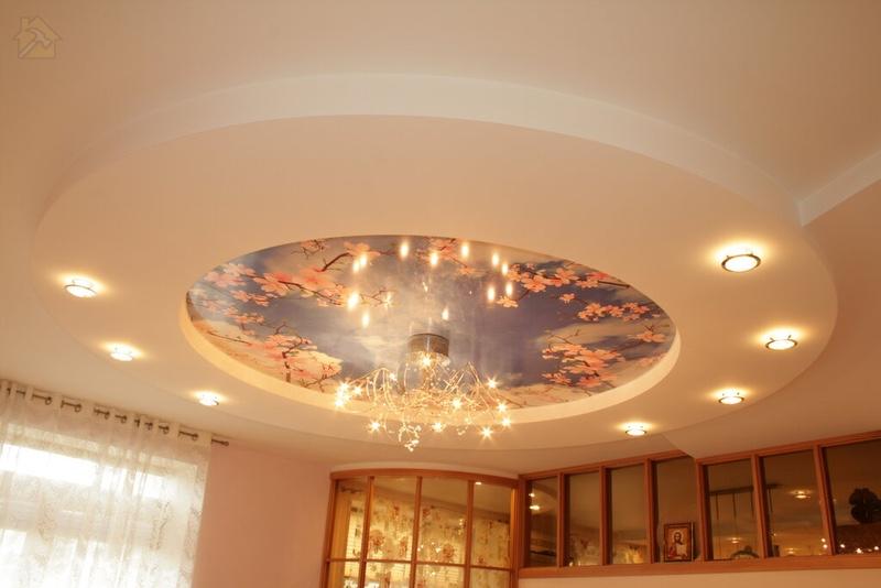 Конструкции из гипсокартона 🔴 Какой потолок лучше сделать на кухне