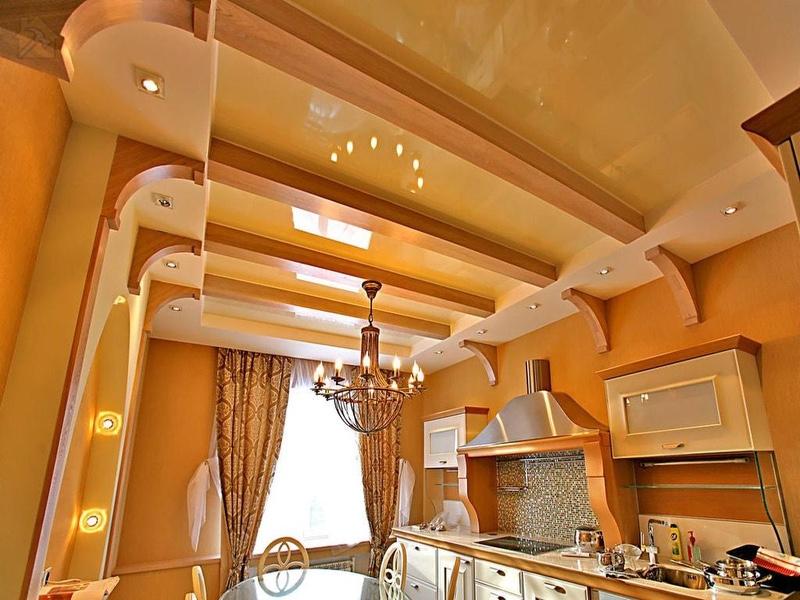 Натяжные потолки из ПВХ 🔴 Какой потолок лучше сделать на кухне
