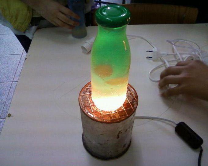 лампа Лава своими руками из подручных средств