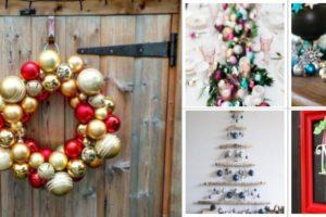 Праздничное украшение - крафтинг из новогодних шаров
