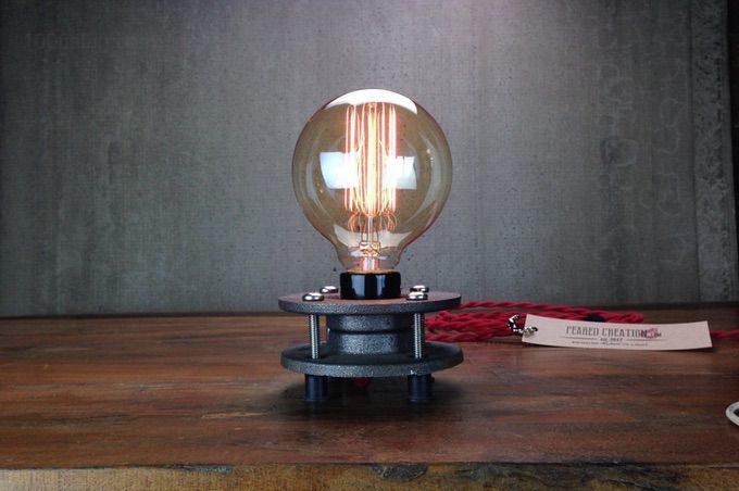 Минималистская настольная лампа Эдисона 🔴 Светильник своими руками из подручных материалов