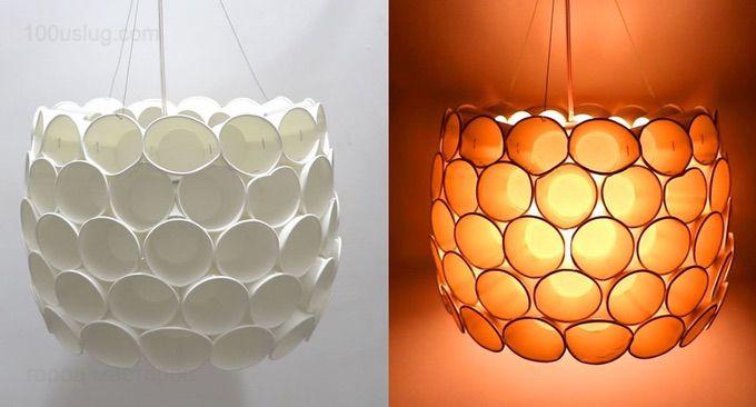 Простые светильники своими руками из подручных материалов фото