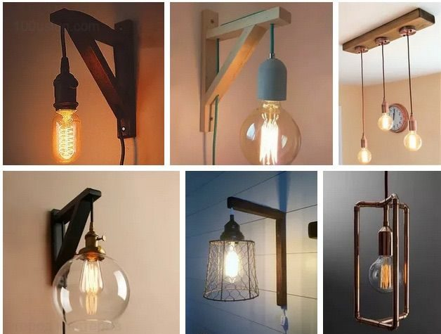 простые самодельные светильники в стиле стимпанк своими руками - фото