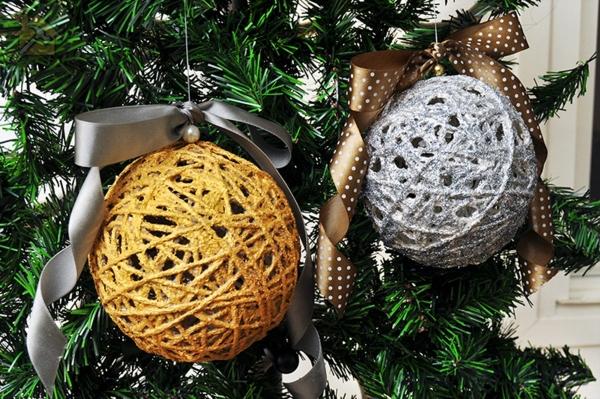 🔴 Стильные новогодние шары своими руками