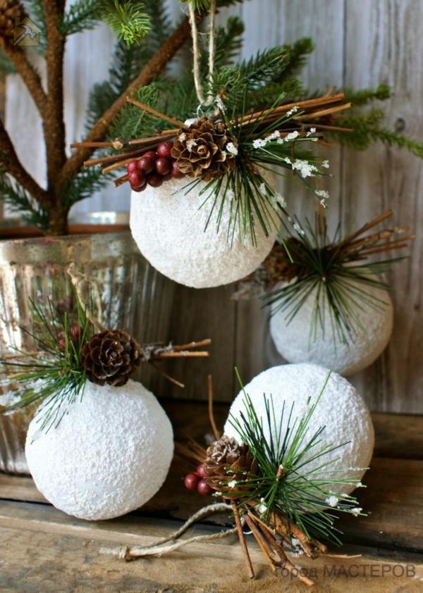 новогодние шары своими руками🔴 Стильные новогодние шары своими руками
