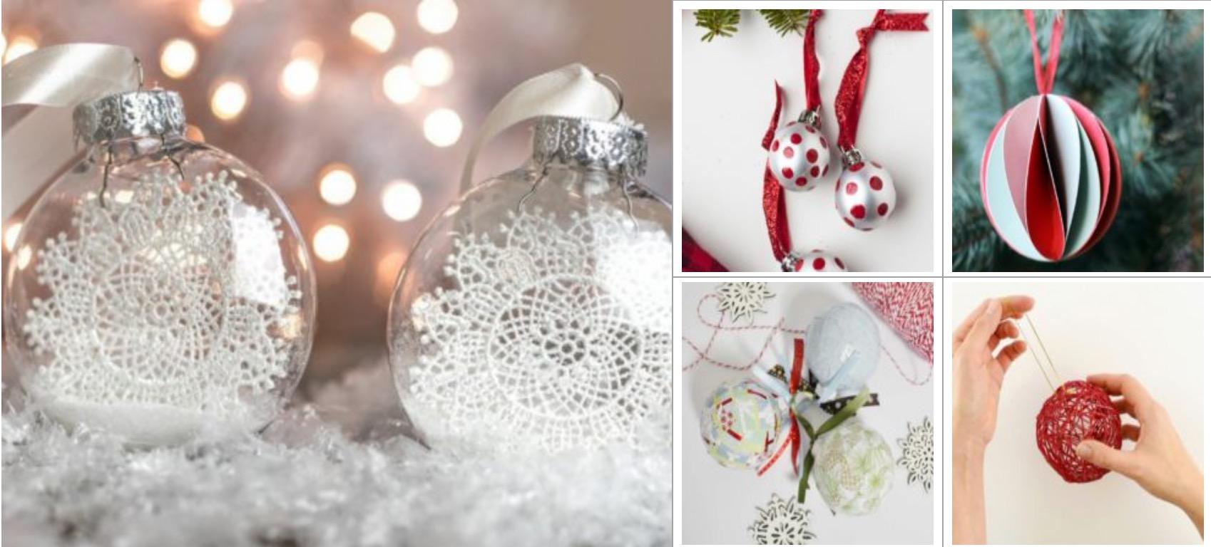 Стильные новогодние шары своими руками🔴 Стильные новогодние шары своими руками
