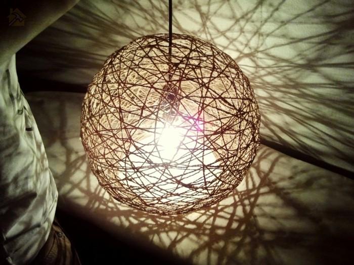 Стильный светильник из пеньковой веревки своими руками 🔴 Стильный светильник из пеньковой веревки своими руками