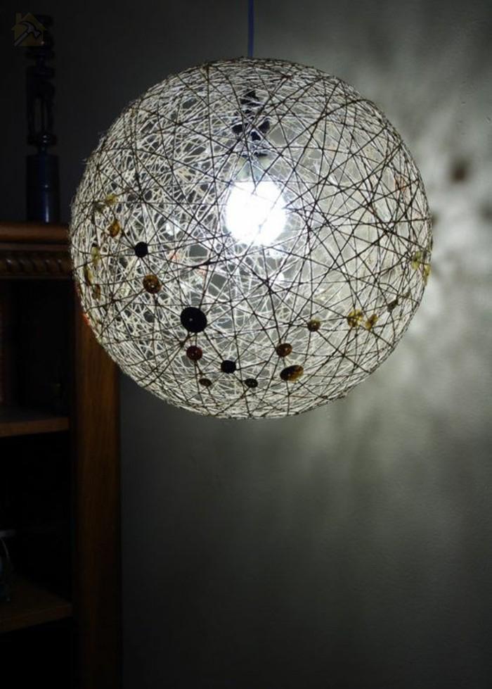 светодиодный светильник своими руками 🔴 Стильный светильник из пеньковой веревки своими руками