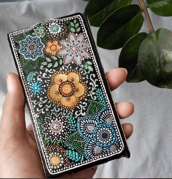 Точечная роспись для самодельного чехла для телефона 🔴 Точечная роспись как вдохновение для декора и дизайна интерьера