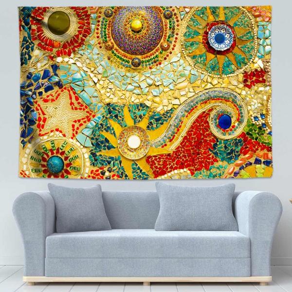 Точечное украшение для стены 🔴 Точечная роспись как вдохновение для декора и дизайна интерьера