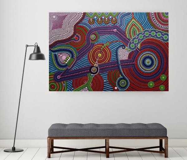 Минималистичная дизайнерская мебель и точечная роспись 🔴 Точечная роспись как вдохновение для декора и дизайна интерьера