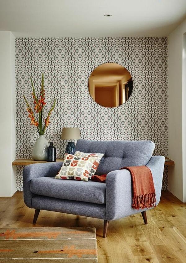 Абстрактные узоры отлично подходят для украшения стены спальни🔴 Геометрические обои как пространство в новом измерении