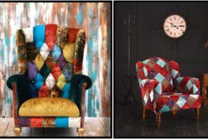 Кресло в стиле пэчворк возвращаются в современный дизайн