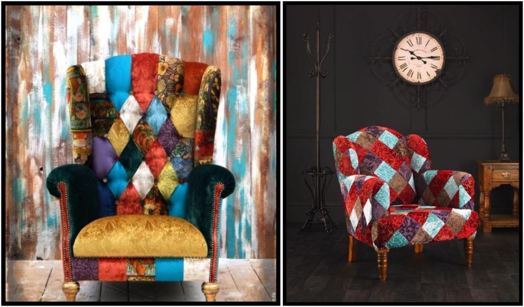 Кресло в стиле пэчворк возвращаются