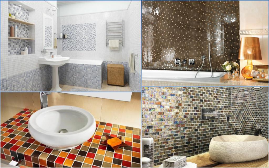 Мозаичная плитка в ванной комнате🔴 Мозаичная плитка в ванной комнате меняем традиции