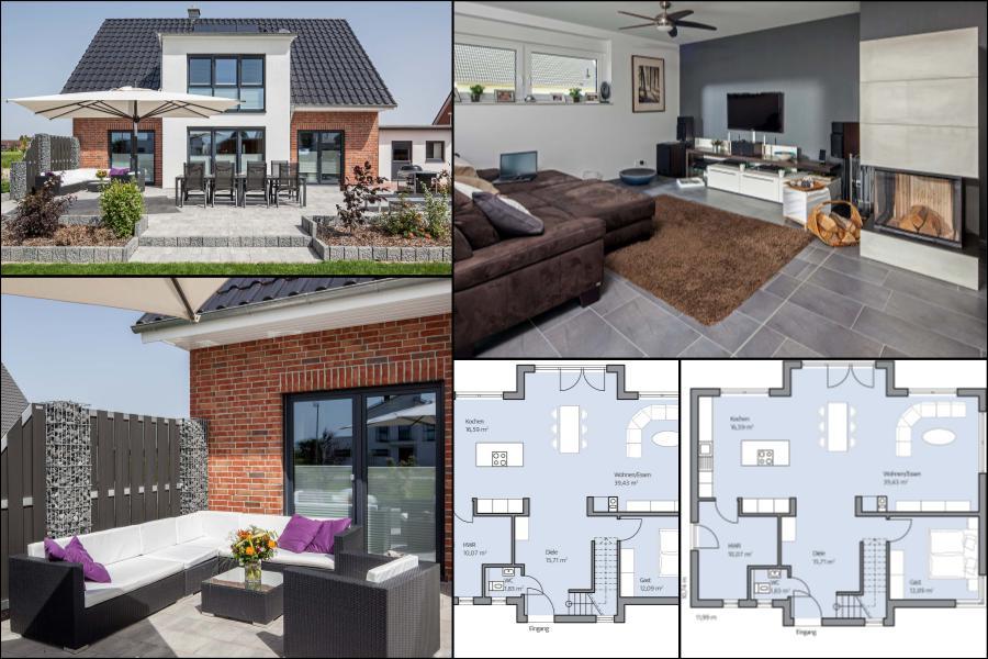 проект 2 этажного дома Классический нордический стиль🔴 Проект 2 этажного дома с гаражом Классический нордический стиль