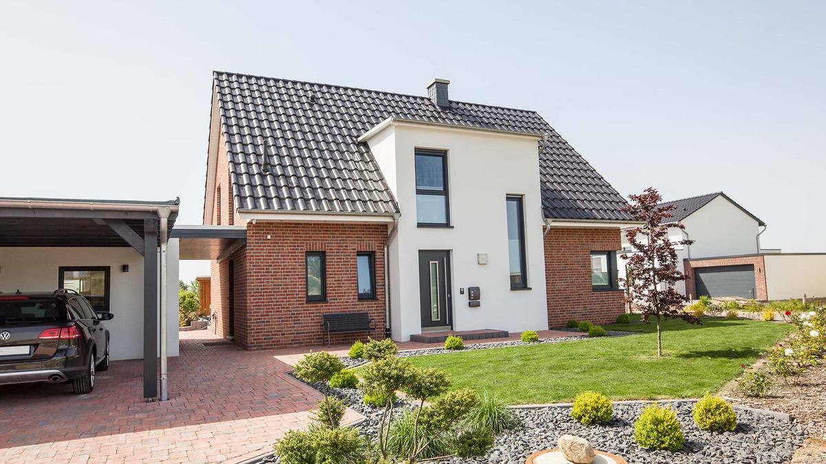 Proekt 2 ehtazhnogo doma s garazhom 02🔴 Проект 2 этажного дома с гаражом Классический нордический стиль