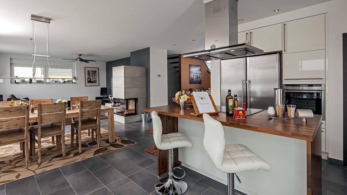 Proekt 2 ehtazhnogo doma s garazhom 06🔴 Проект 2 этажного дома с гаражом Классический нордический стиль