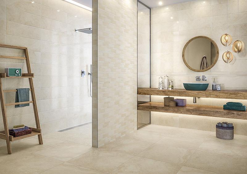 Плитка под натуральный камень для безбарьерной ванной комнаты 🔴 Сделайте безбарьерную ванную комнату увеличьте комфорт