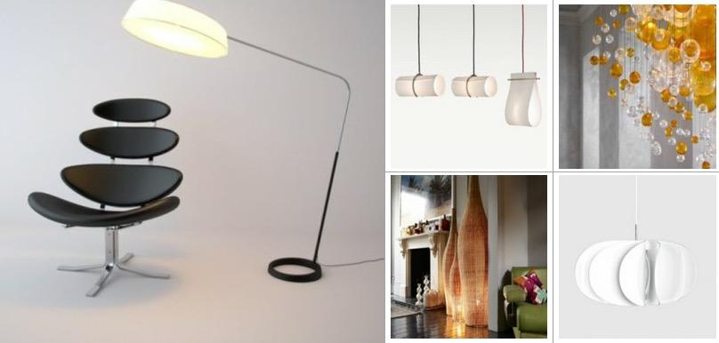 Дизайнерские лампы визуально изменят любую жилую среду