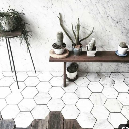 Шестигранная плитка несколько идей дизайна 🔴 Шестигранная плитка несколько идей дизайна